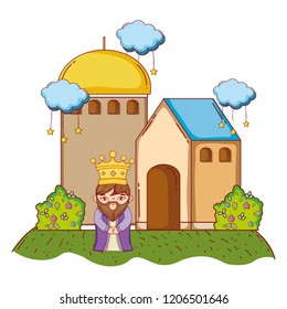 wise man king cartoon
