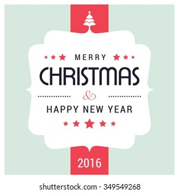 I Wish You A Merry Christmas And Happy New Year Vintage Christmas Background With Typography
