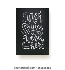 Imágenes, fotos de stock y vectores sobre Wish You Were Here