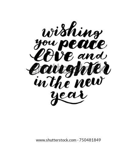 wishing you peace love laughter new stock vector royalty free