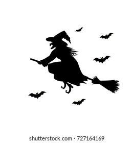 witch silhouette images stock photos vectors shutterstock