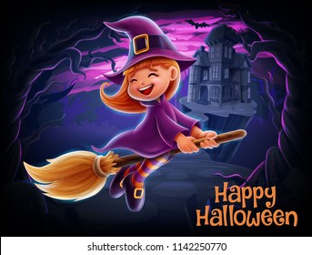 witch cartoon illustration