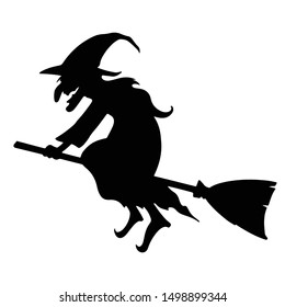 witch character silhouette. vector format.