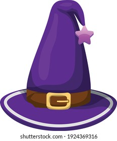 Witch hat vector art and illustration
