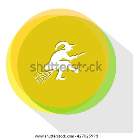 witch internet template vector icon stock vector royalty free