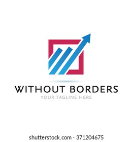 Without Borders Logo Icon Elements Template