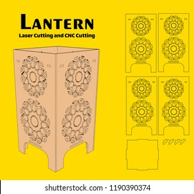 Without using glue.. Cut out template for lamp, candle holder, lantern or chandelier (plywood 3 mm). Shadow box with oriental geometric design. Scheme is suitable for a laser cutting or printing.