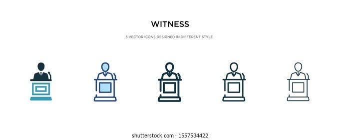 witness icon in different style vector illustration. two colored and black witness vector icons designed in filled, outline, line and stroke style can be used for web, mobile, ui