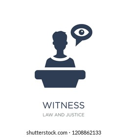 Witness icon. Trendy flat vector Witness icon on white background from law and justice collection, vector illustration can be use for web and mobile, eps10