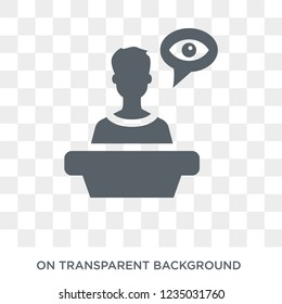 Witness icon. Trendy flat vector Witness icon on transparent background from law and justice collection.