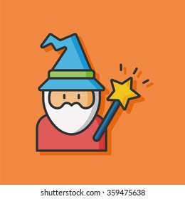 wizard hat vector icon