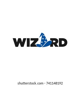 wizard hat vector logo