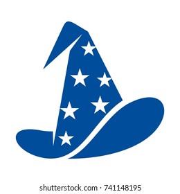 wizard hat vector logo