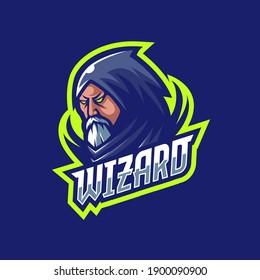 Wizard Mascot Logo Gaming Template