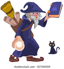 wizard master cartoon vector character