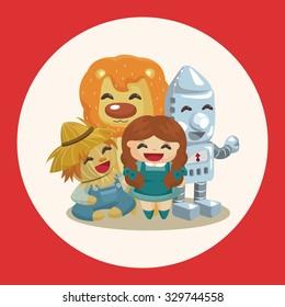 The Wizard of Oz cartoon theme elements