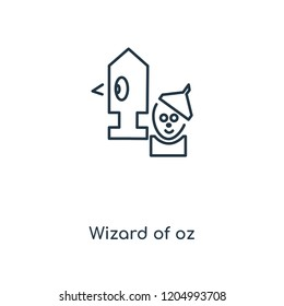 Wizard of oz concept line icon. Linear Wizard of oz concept outline symbol design. This simple element illustration can be used for web and mobile UI/UX.