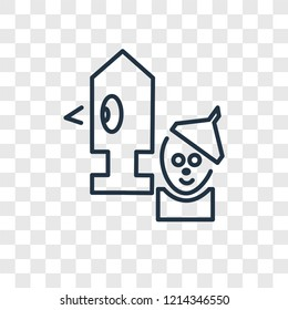 Wizard of oz concept vector linear icon isolated on transparent background, Wizard of oz concept transparency concept in outline style
