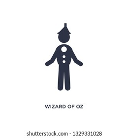 wizard of oz icon. Simple element illustration from literature concept. wizard of oz editable symbol design on white background. Can be use for web and mobile.