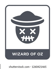wizard of oz icon vector on white background., wizard of oz simple element illustration