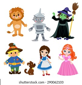 Wizard of Oz, vector illustration cartoon.
