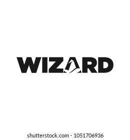 Wizard vector logo.