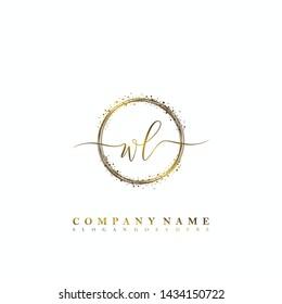 WL Initial luxury handwriting logo vector