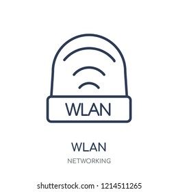 wlan icon. wlan linear symbol design from Networking collection. Simple outline element vector illustration on white background.