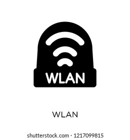 wlan icon. wlan symbol design from Networking collection. Simple element vector illustration on white background.
