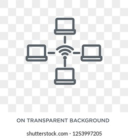 wlan icon. Trendy flat vector wlan icon on transparent background from Internet Security and Networking collection. High quality filled wlan symbol use for web and mobile