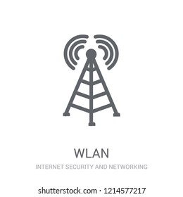 wlan icon. Trendy wlan logo concept on white background from Internet Security and Networking collection. Suitable for use on web apps, mobile apps and print media.