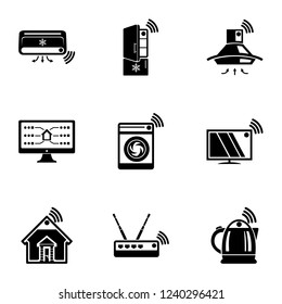 Wlan icons set. Simple set of 9 wlan vector icons for web isolated on white background
