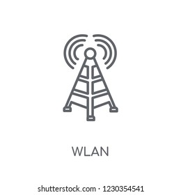 wlan linear icon. Modern outline wlan logo concept on white background from Internet Security and Networking collection. Suitable for use on web apps, mobile apps and print media.
