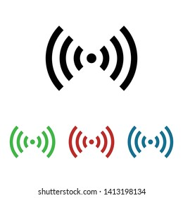 wlan signal wave  flat icon, vector illustration