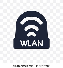 wlan transparent icon. wlan symbol design from Networking collection. Simple element vector illustration on transparent background.