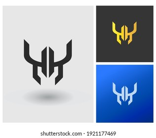 WM YY initial based Logo Design in Gradient Colors. Creative Modern jewelry company logo. Crown shape Letters Vector Icon Logo idea Illustration.