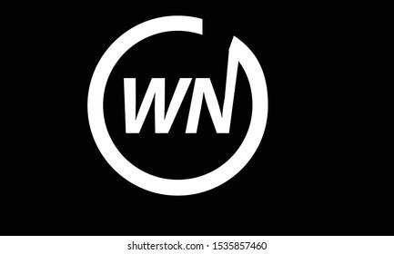 WN abstract vector logo monogram template
