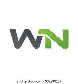 WN company linked letter logo green