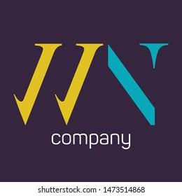 WN logo design. Company logo. Monogram. Letters W and N.