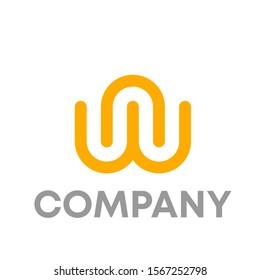 wn logo vector design template sign