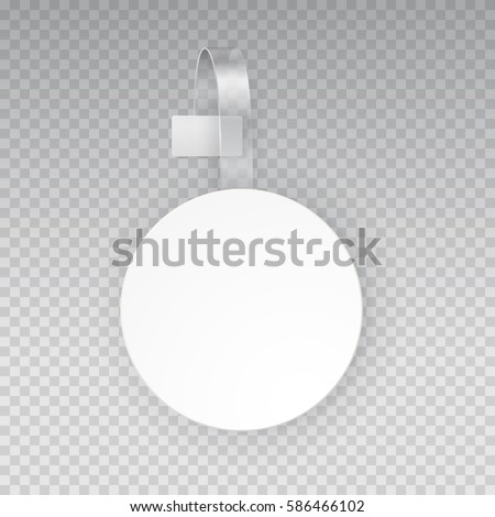 Wobbler Mock Up Vector Supermarket Shelf Stock Vector Royalty Free