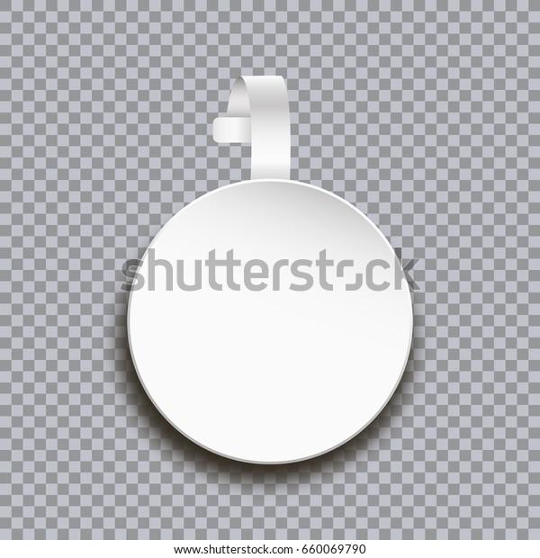 Wobbler Mockup On Transparent Background Blank Stock Vector