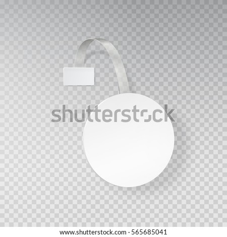 Wobbler Sale Point Sticker Mockup White Stock Vector Royalty Free