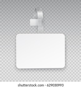 Wobbler or sales point tag mock up. White empty self adhesive supermarket shelf wobbler isolated on transparent background. Vector shelf plastic price sticker, sign or label for your design