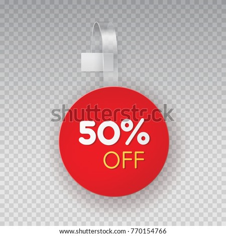 Wobbler Sales Point Tag Mockup Red Stock Vector Royalty Free