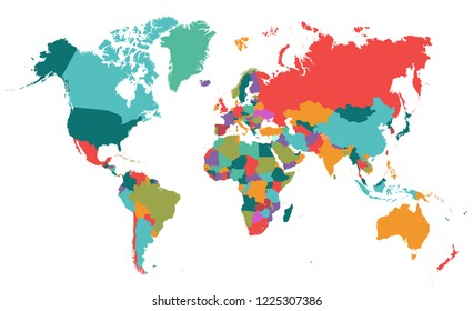 The Wold Map Vector