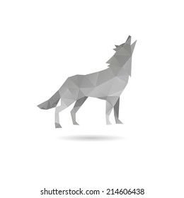Wolf abstract isolated on a white backgrounds, vector illustration