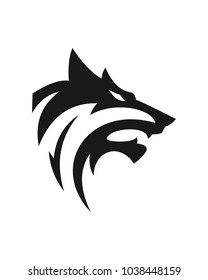 wolf abstract logo template
