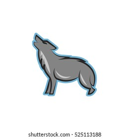Wolf Animal Logo Design Template