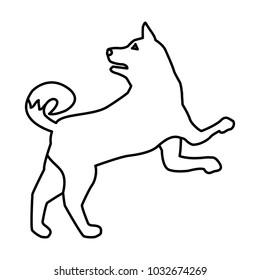 Wolf animal silhouette